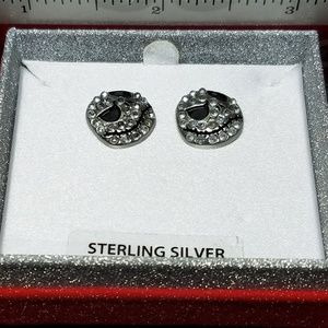 Sterling Silver Disney Jack Skellington Earrings
